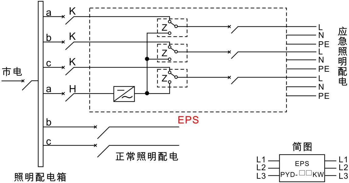 eps应急电源接线原理图